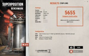 Dell Latitude 7320 2-in-1 Review 720p low unigine