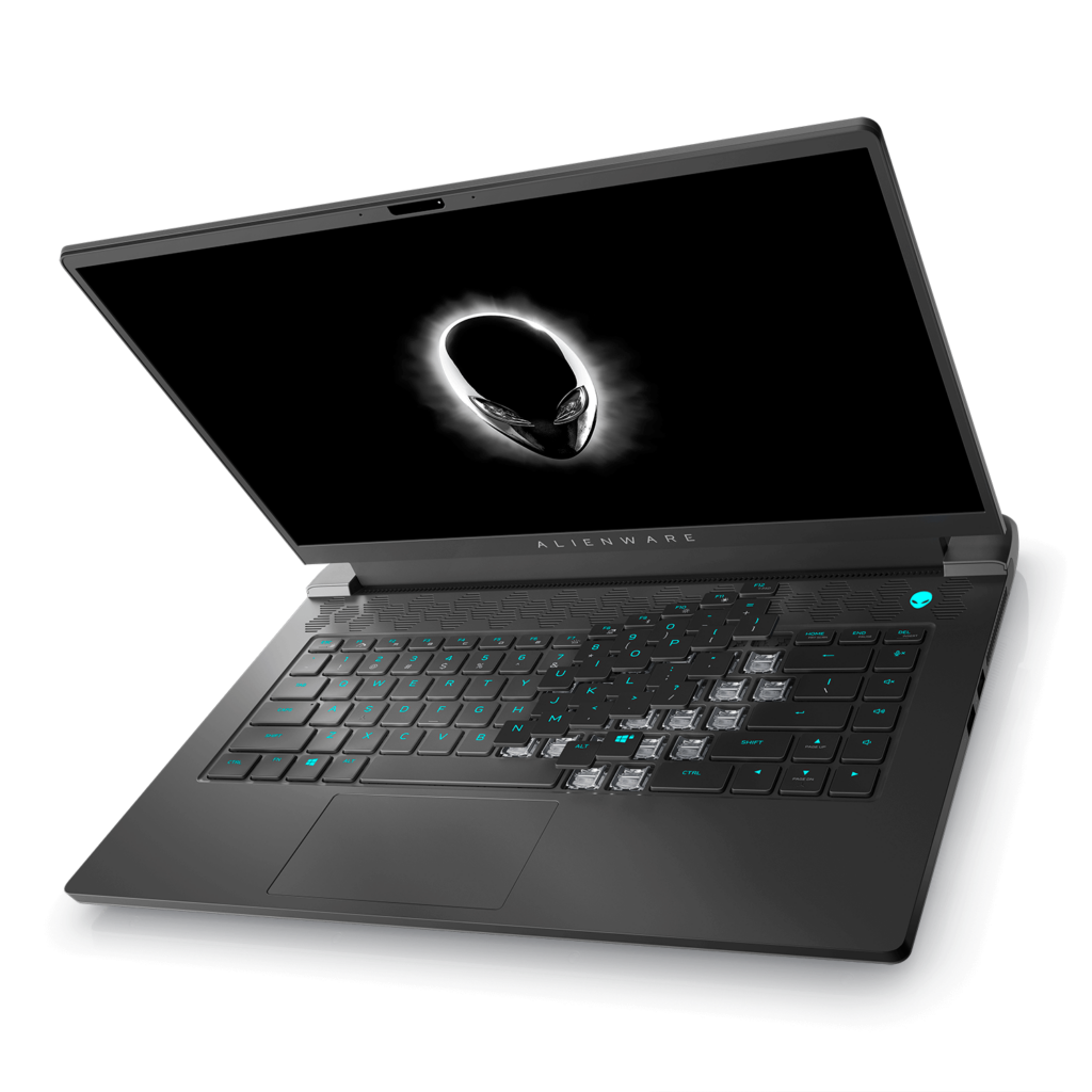 Alienware m15 R6 side top angle