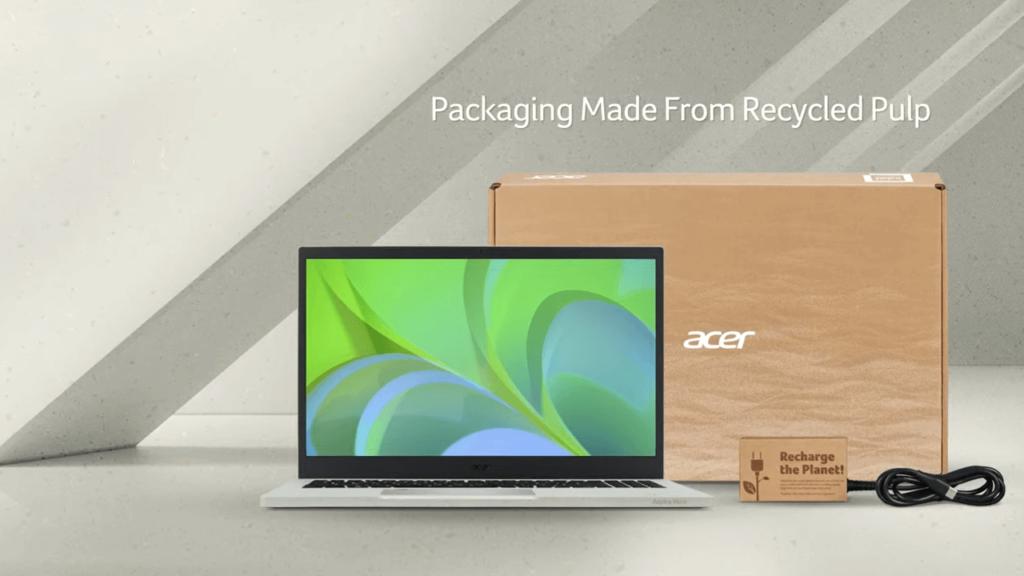 Acer Aspire Vero laptop packaging