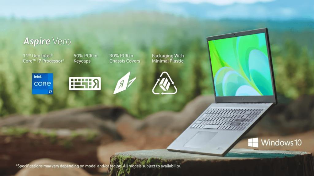 Acer Aspire Vero laptop benefits