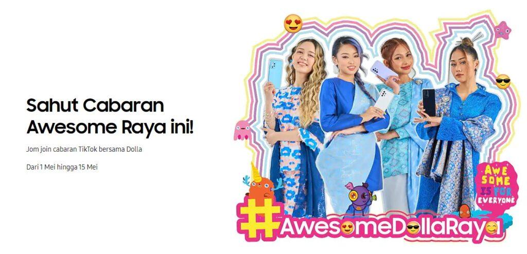 Samsung #AwesomeDollaRaya challenge box cover