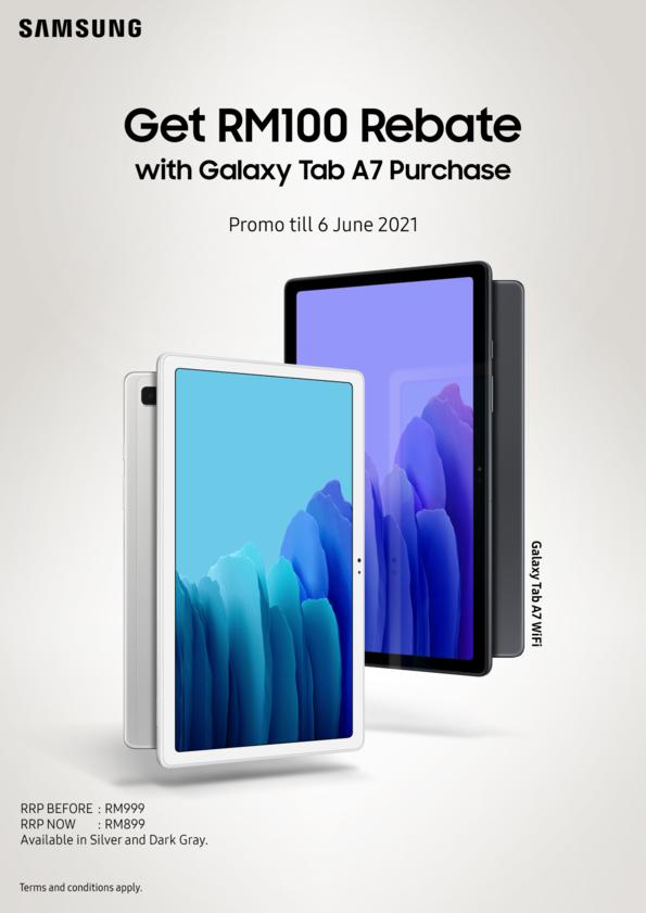 Galaxy Tab A7 WiFi cover promo