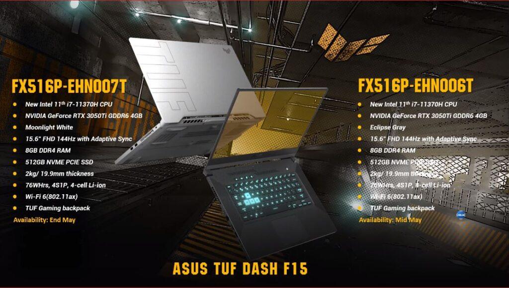 ASUS TUF Dash F15 hero