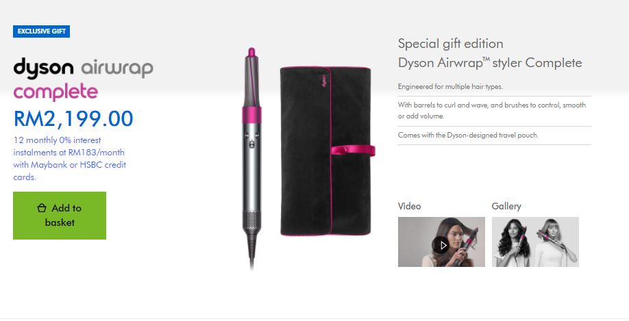 Dyson Mother's Day 2021 air wrap