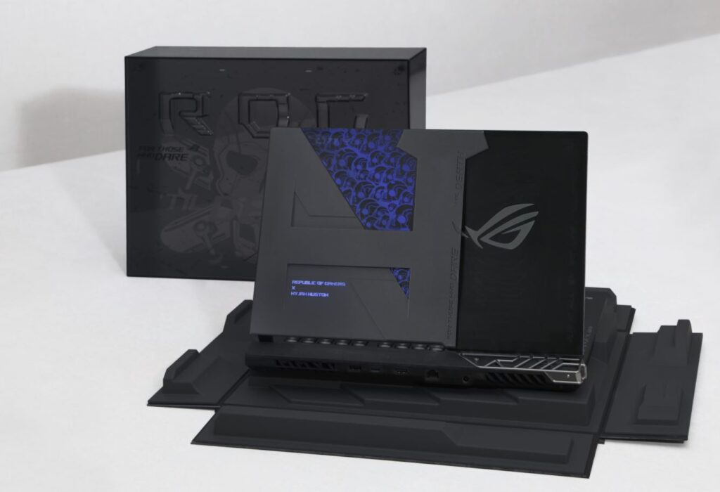 ASUS Republic of Gamers have crafted a concept gaming laptop exclusively for him dubbed the ROG Strix Nyjah Huston Special Edition. skate park