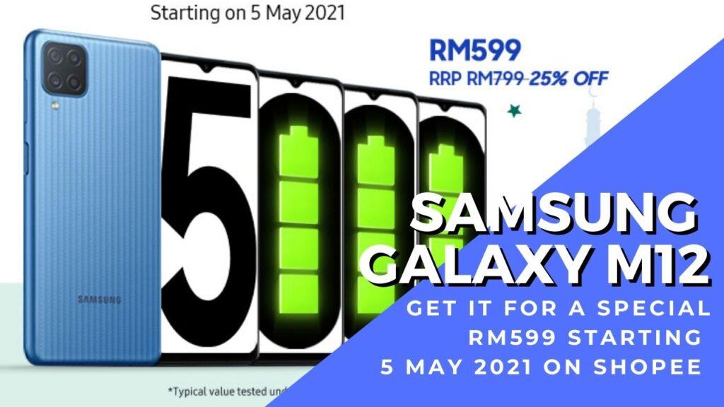 samsung galaxy m12 promo shopee