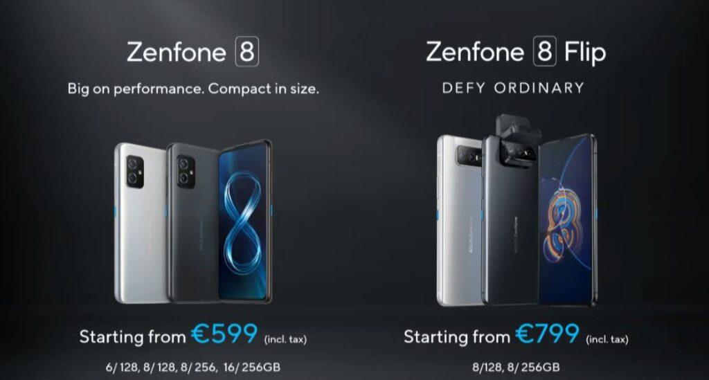 ASUS Zenfone 8 price
