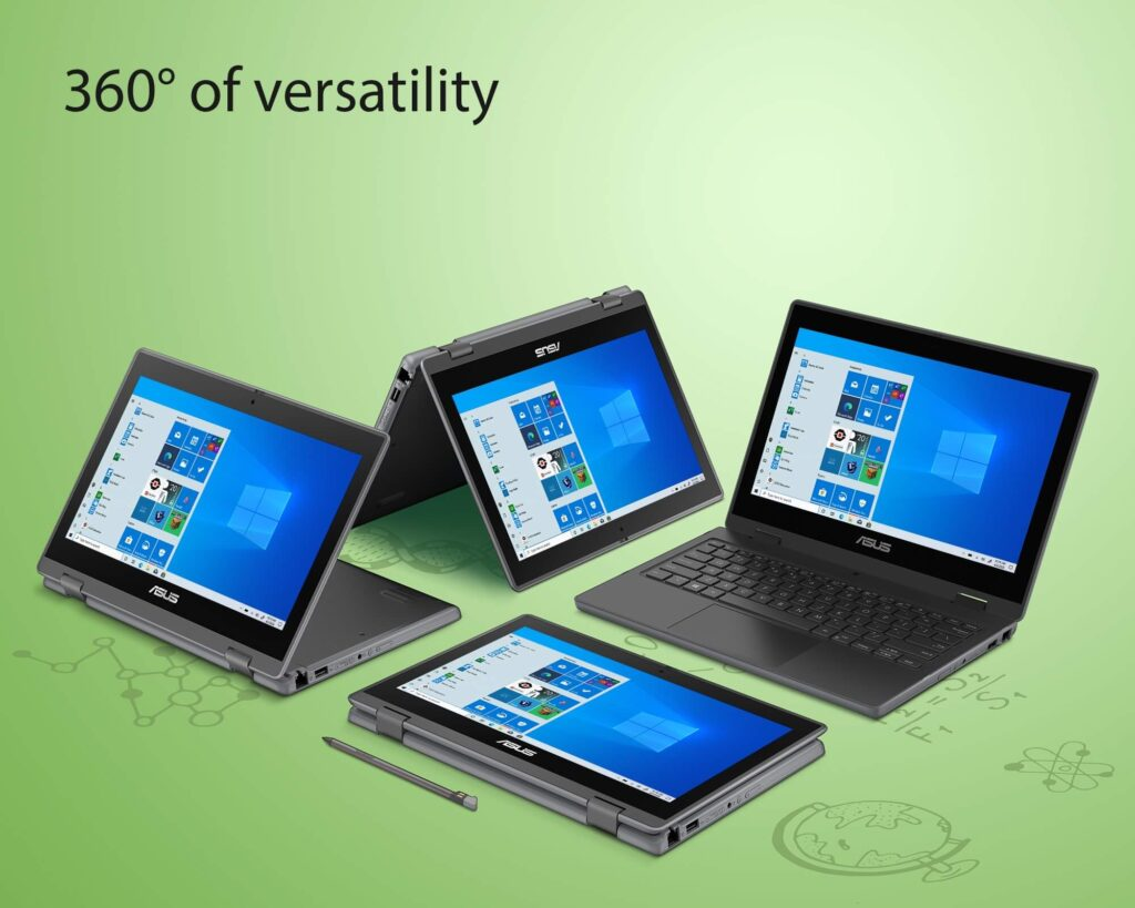 ASUS BR1100F student laptop versatility