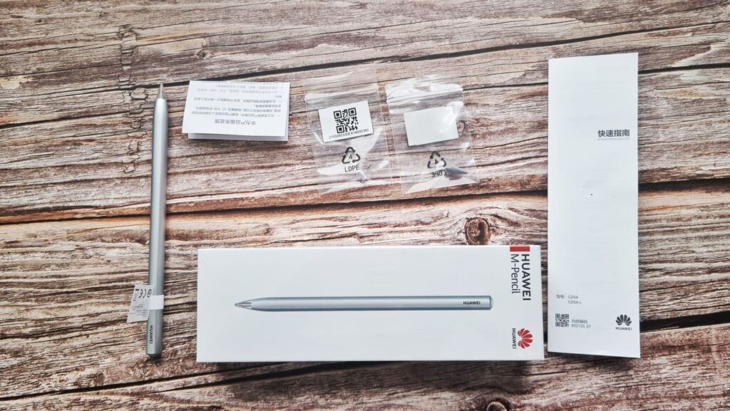 Huawei MatePad Pro 12 Unboxing M-Pencil contents