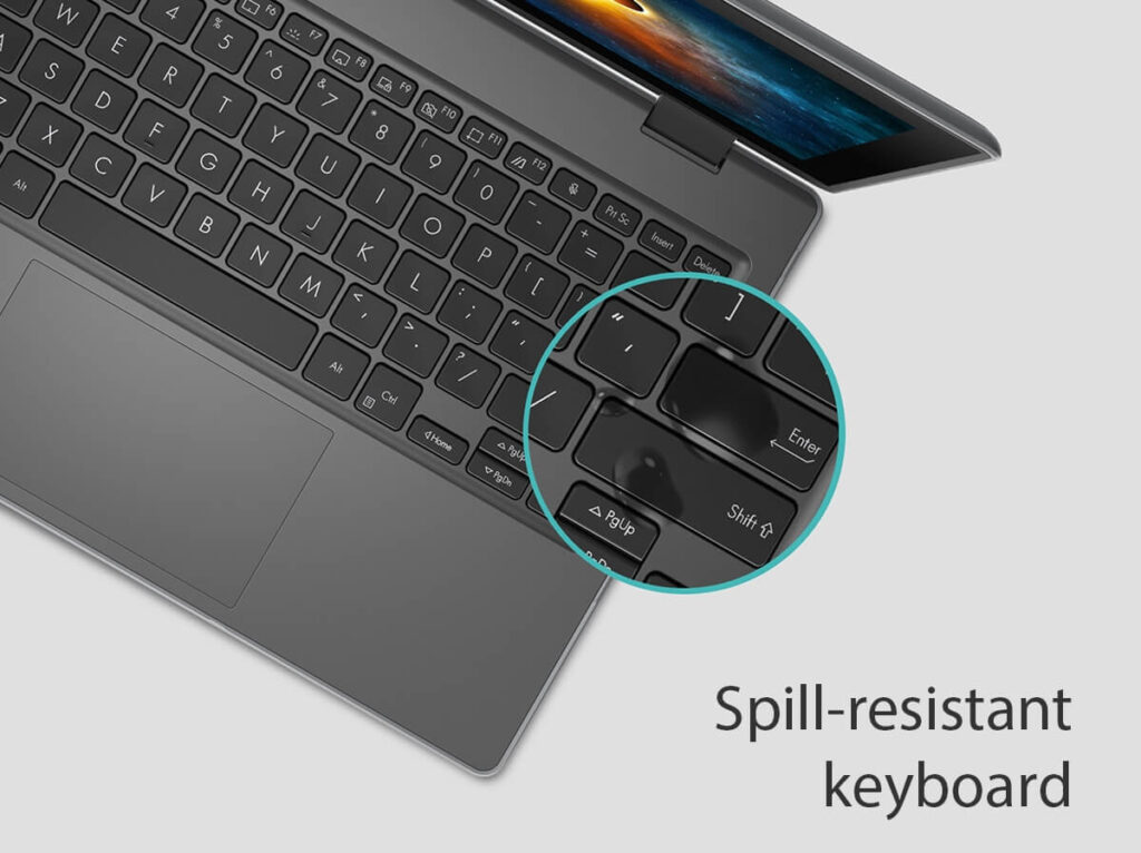 ASUS BR1100F student laptop spillproof