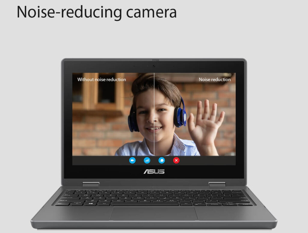 ASUS BR1100F student laptop noise reduction camera