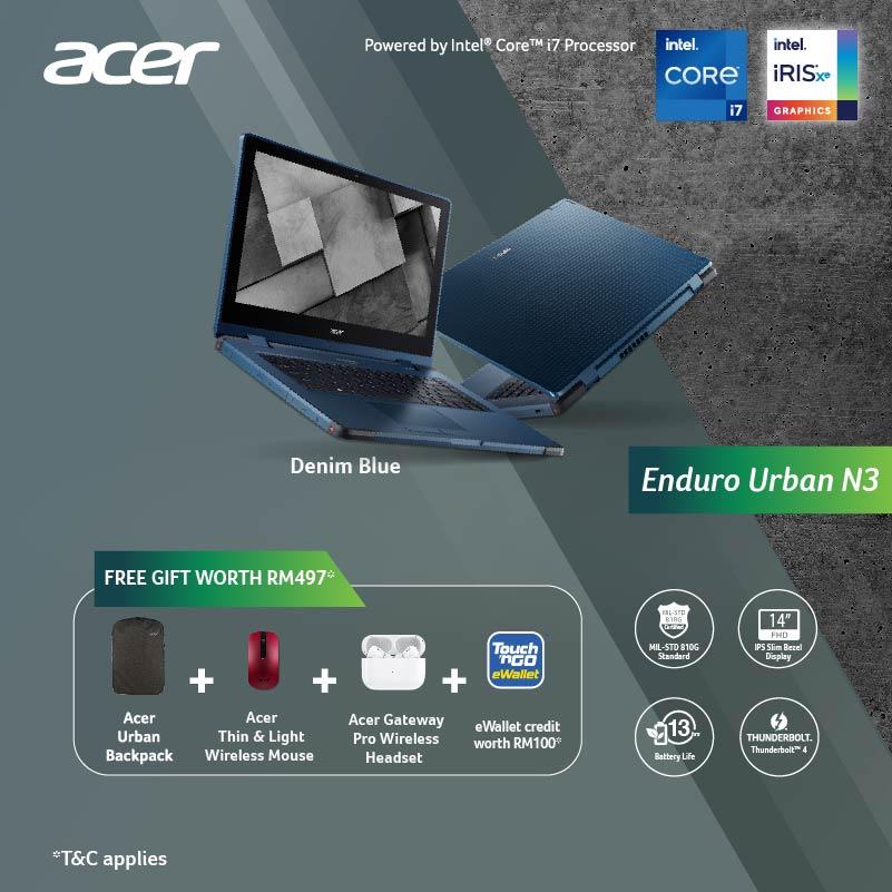 Acer Enduro Urban N3  free gift