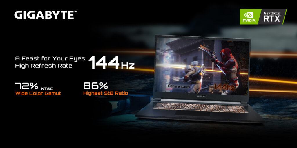 Gigabyte G7 144hz display