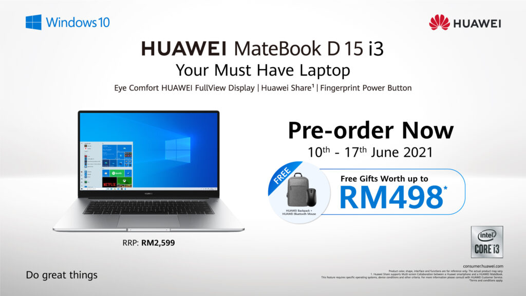 Huawei MateBook D 15 cover