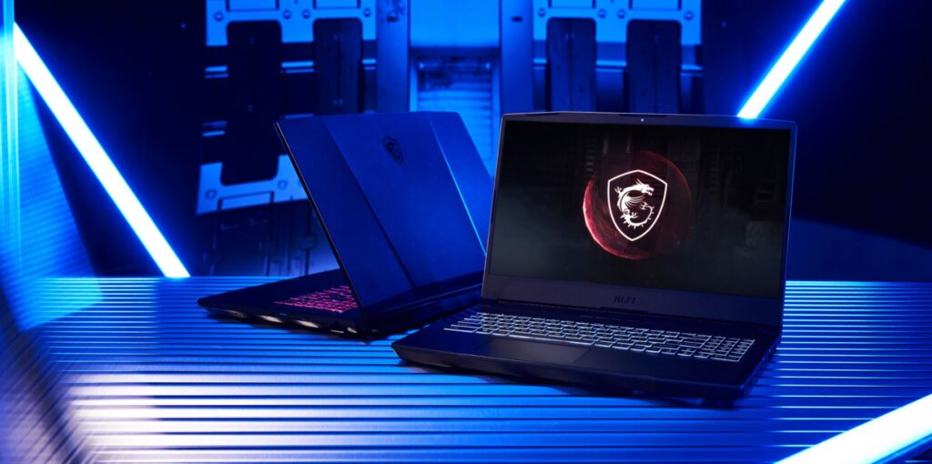 MSI Pulse GL76 Laptop front and back