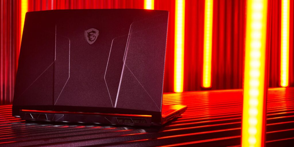 MSI Pulse GL76 colour backplate red