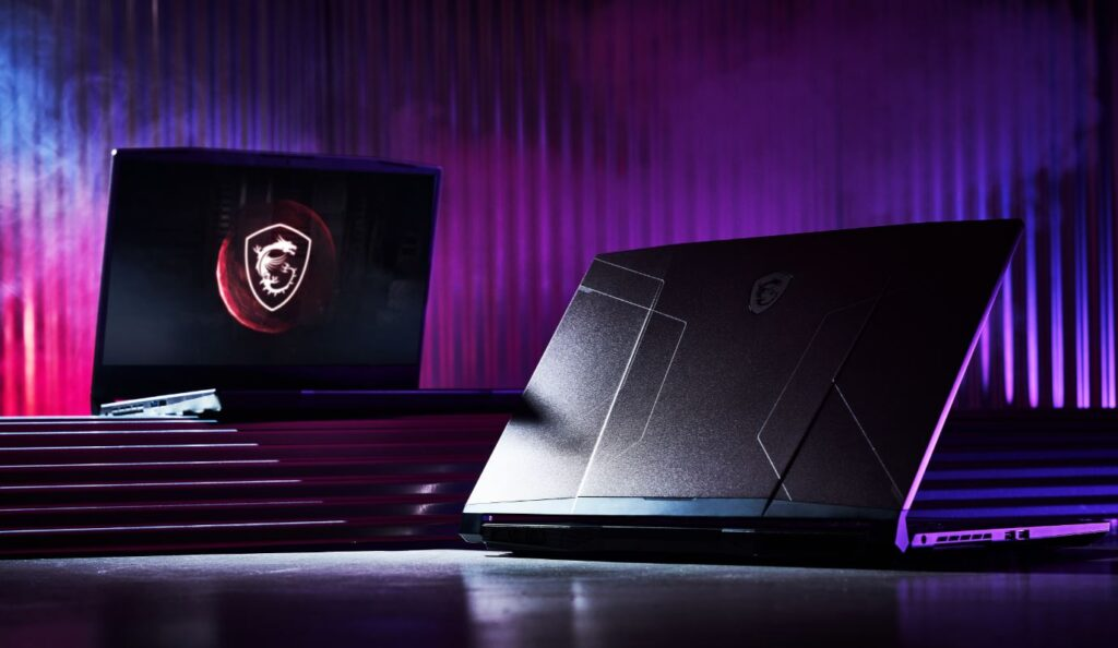 MSI Pulse GL76 front and rear