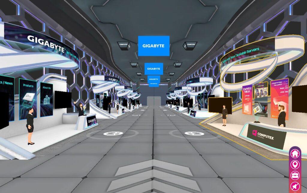 Gigabyte Pavilion at Computex Virtual 2021