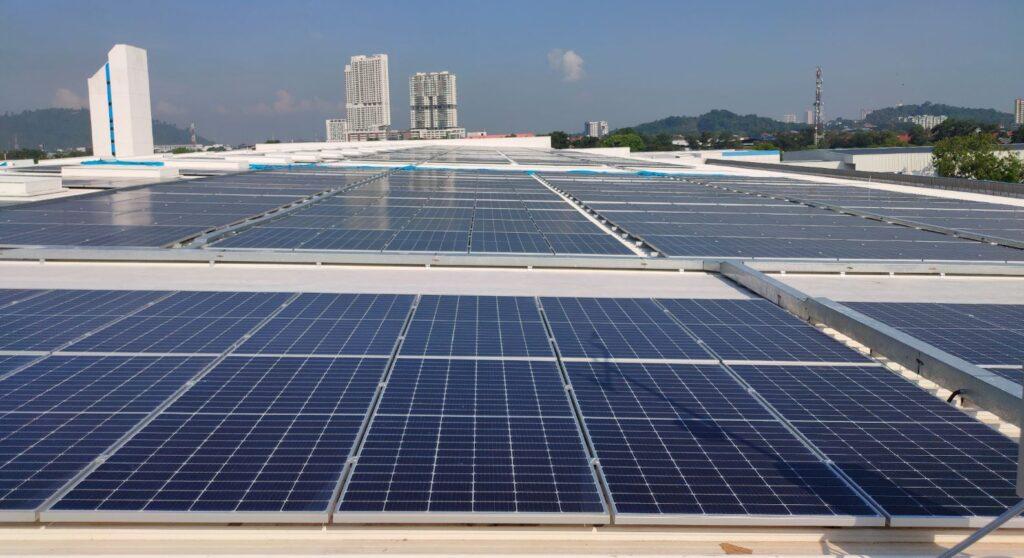 Dell Technologies solar panel side