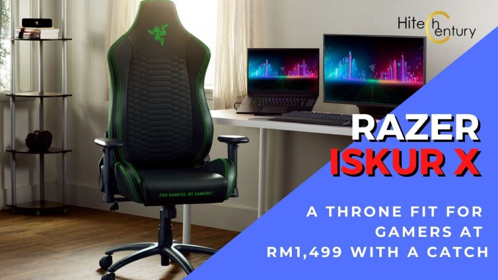 Razer Iskur X gaming chair cover