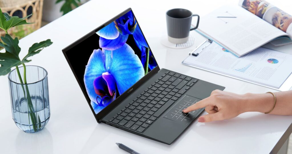 ASUS ZenBook 13 OLED UX325 angled