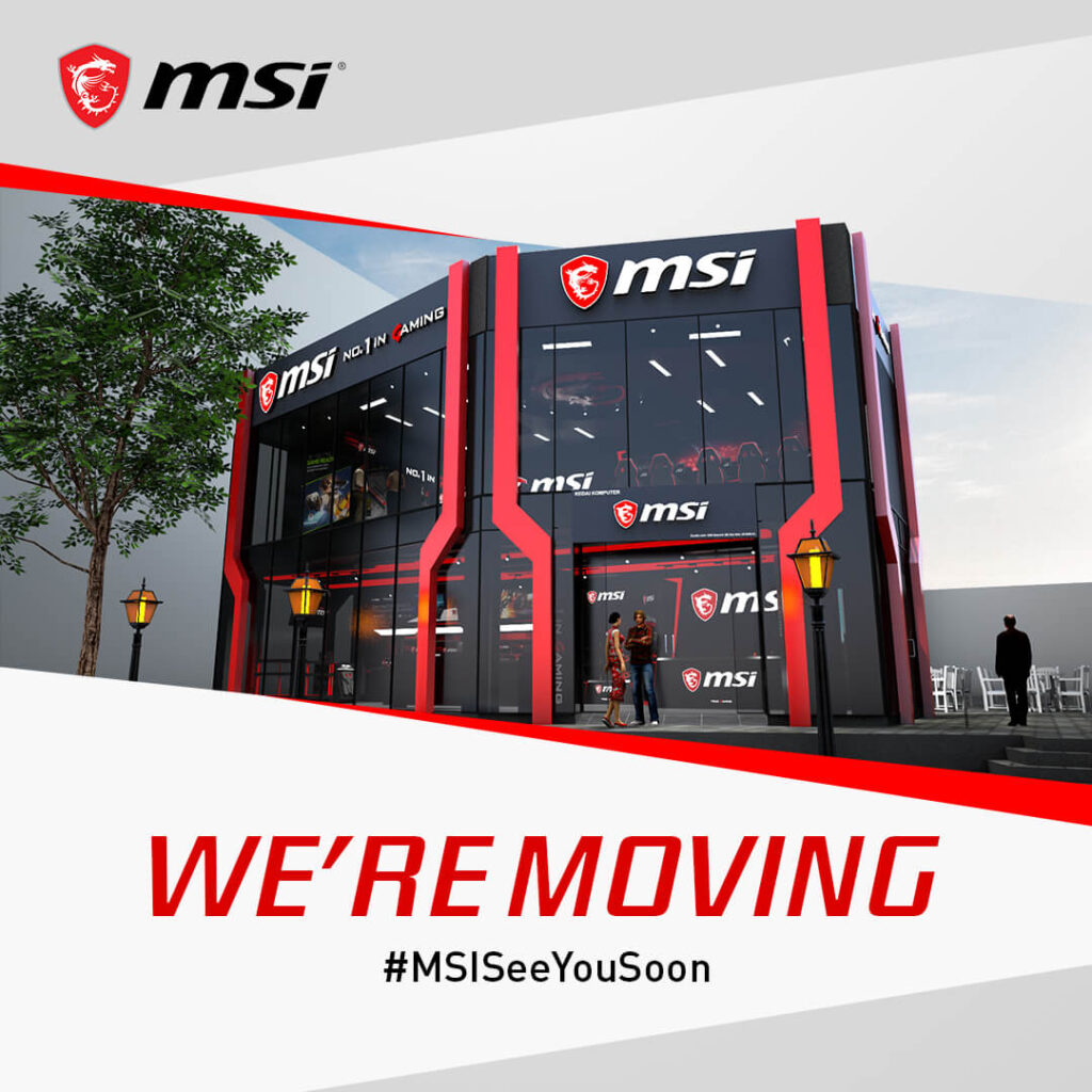 MSI concept store we are moving