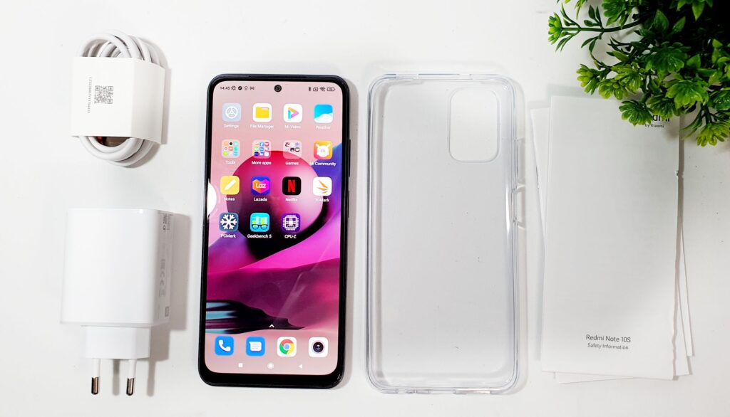 Redmi Note 10S Review box contents