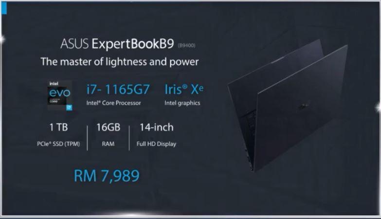 ASUS ExpertBook B9 B9400 price