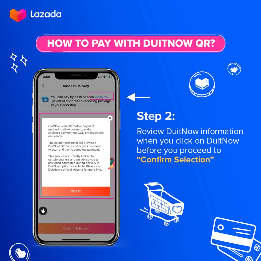 Lazada DuitNow QR step 2
