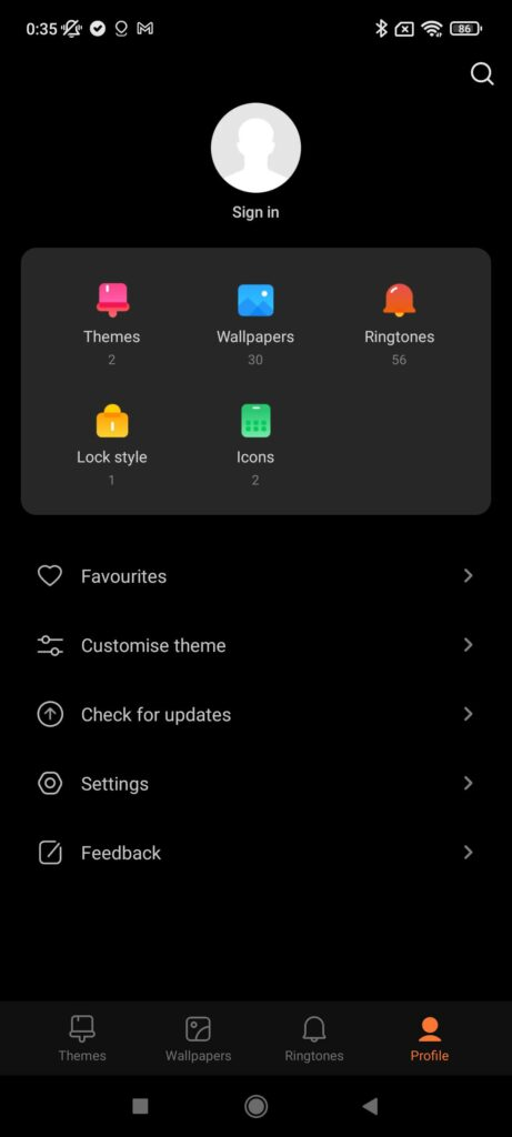 Xiaomi Redmi Note 10S Review theme manager 3