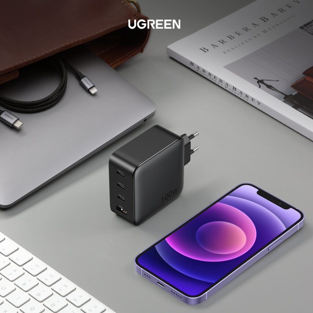 UGREEN 100W Gan charger full charge