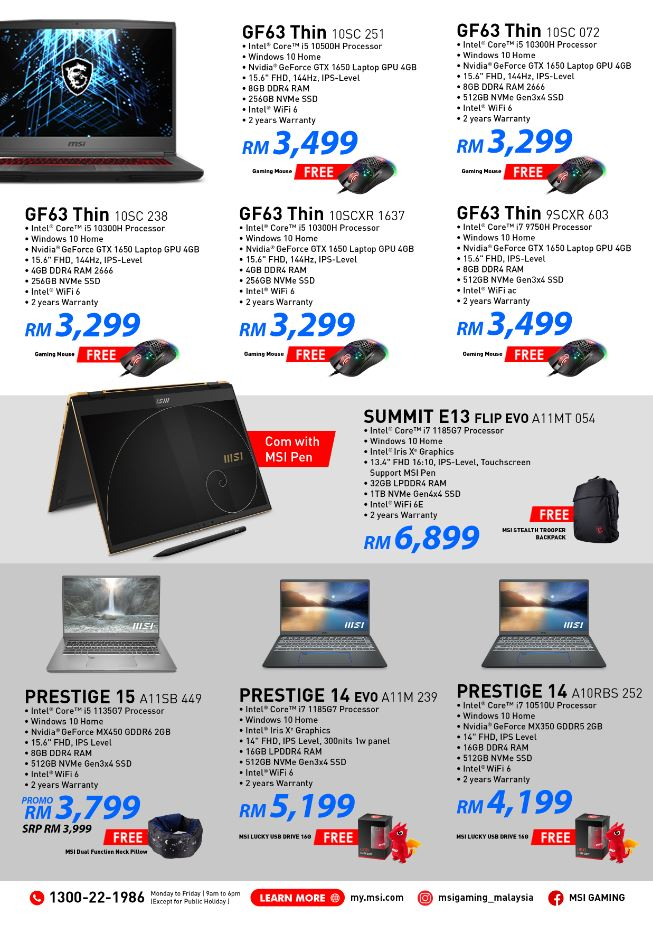 MSI 2021 Midyear Sales other promos
