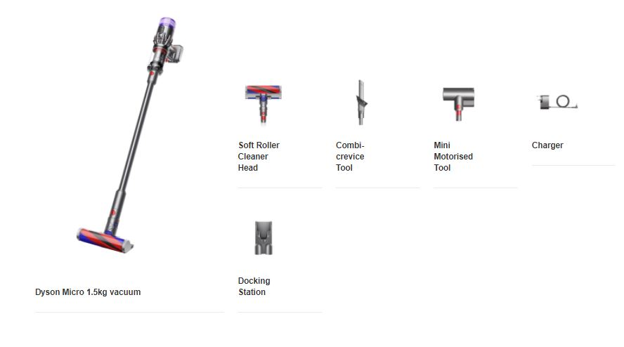 Dyson micro price whats in the box