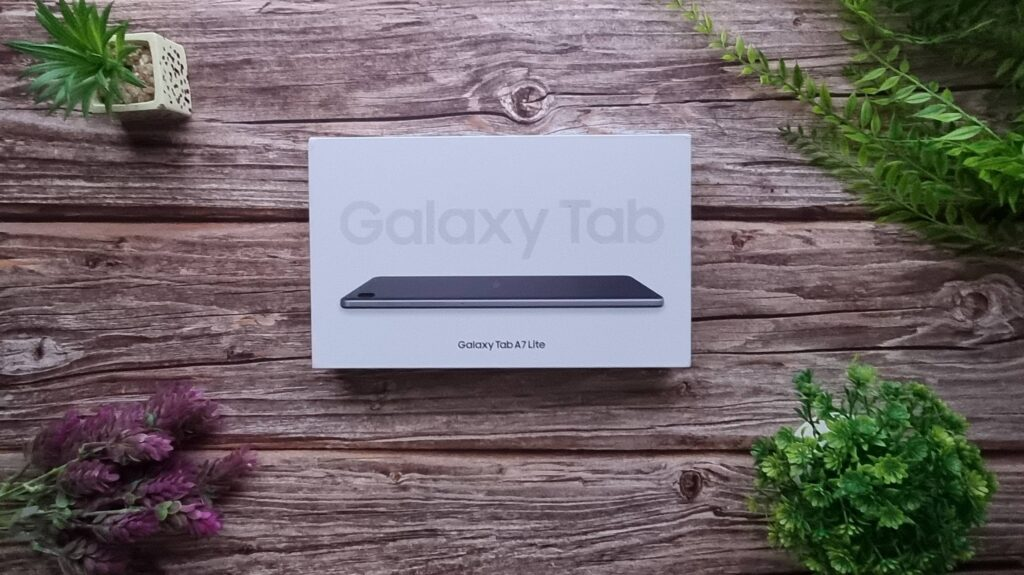 Samsung Galaxy Tab A7 Lite Unboxing box unopened