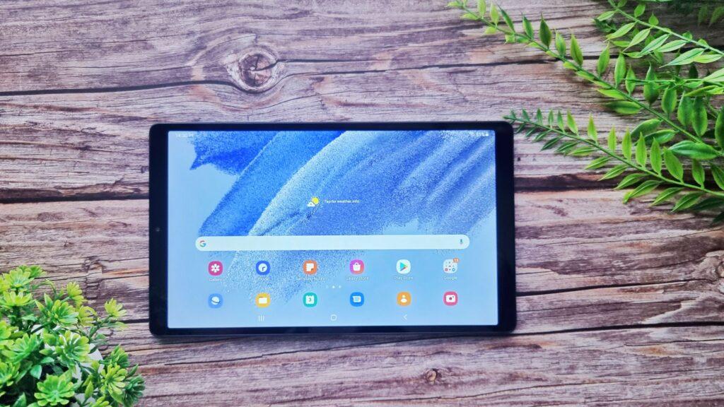 Samsung Galaxy Tab A7 Lite Unboxing home screen - Samsung Galaxy Tab A7 Lite Review