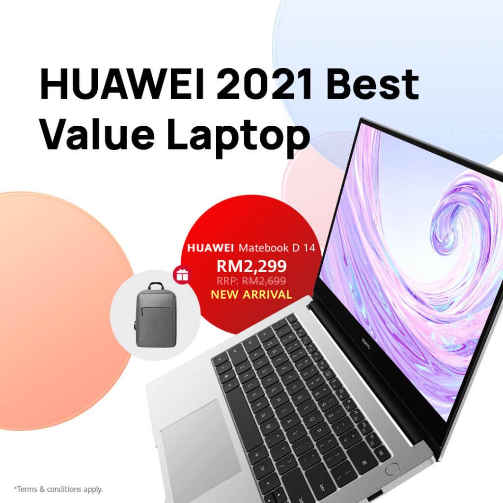 Huawei September Fiesta Deal #7 Huawei MateBook D14 i3 (for RM2,299) and MateBook 13 i7
