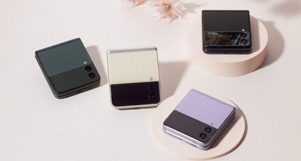 Samsung Galaxy Z Flip3 colour choices