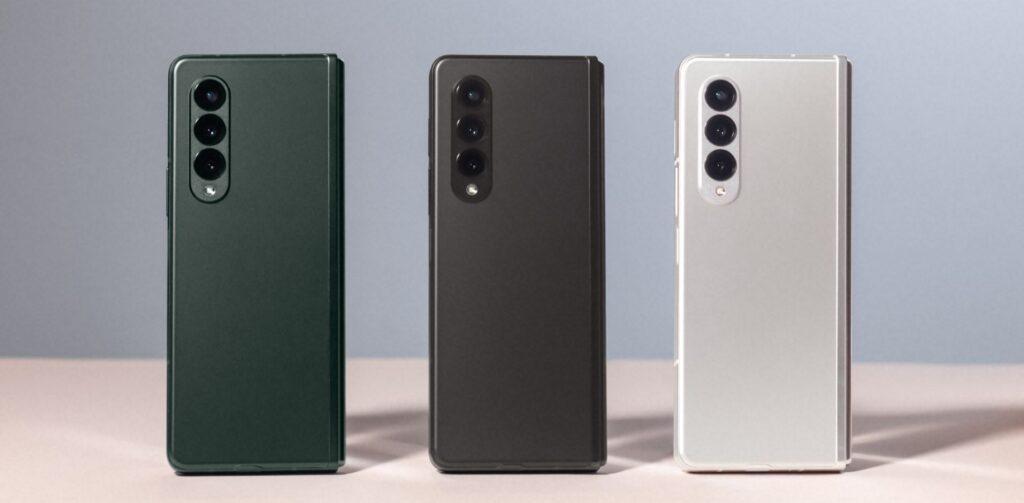 Samsung Galaxy Z Fold3 colour choices