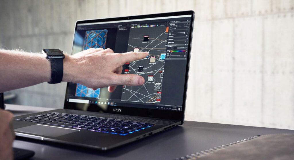 MSI Creator Z16 Content Creator Laptop touchscreen