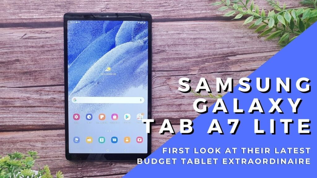 Samsung Galaxy Tab A7 Lite Unboxing and First Look 3