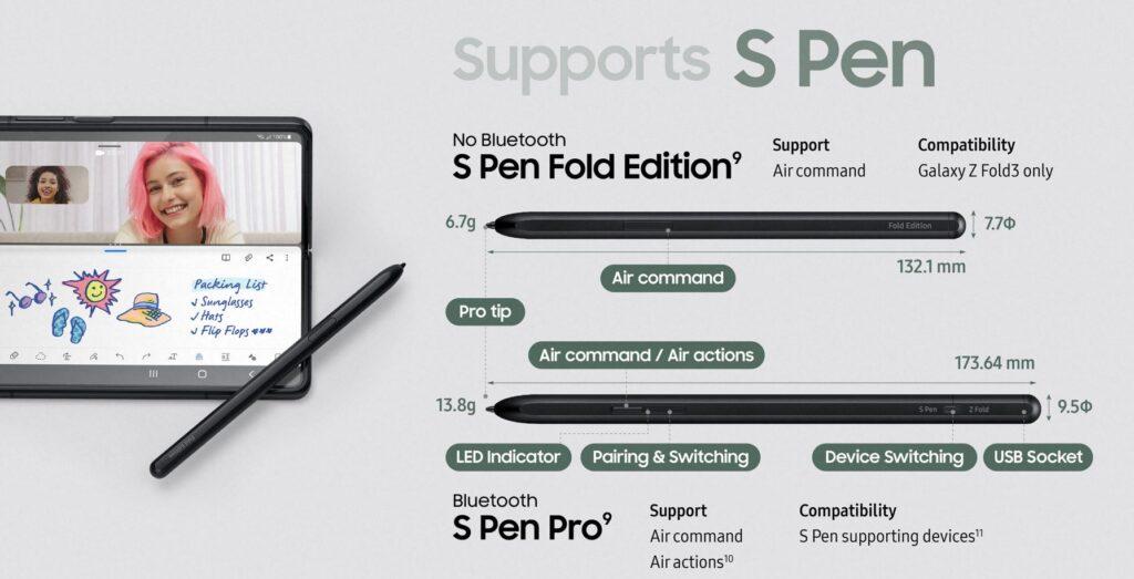 Samsung S Pen Pro compatibility list