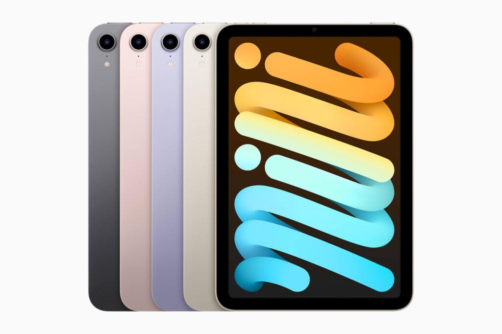 Apple iPad mini front colours