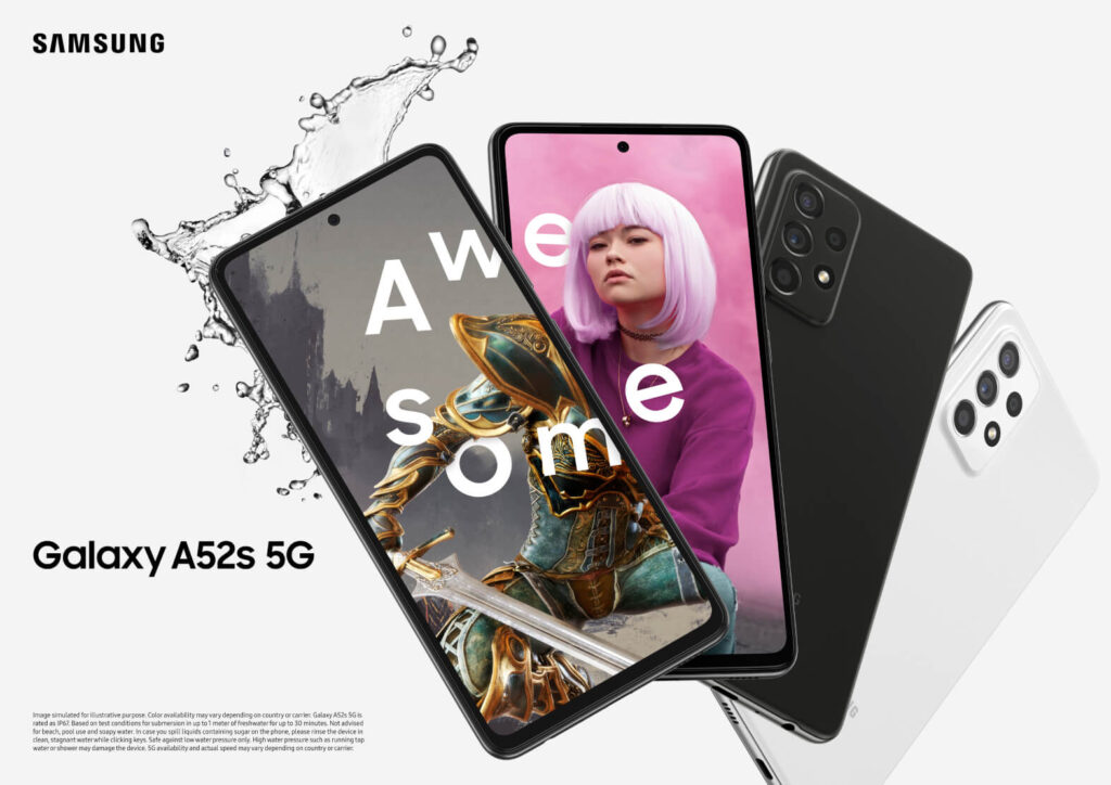 Galaxy A52s 5G front