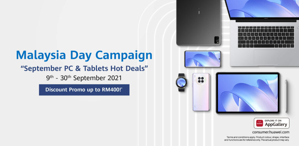 Get up to RM400 in awesome discounts on Huawei PCs and more in Malaysia Day Campaign cover