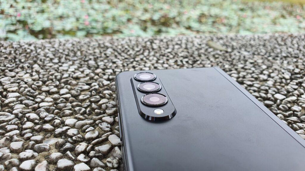 Samsung Galaxy Z Fold3 5G Review rear cameras