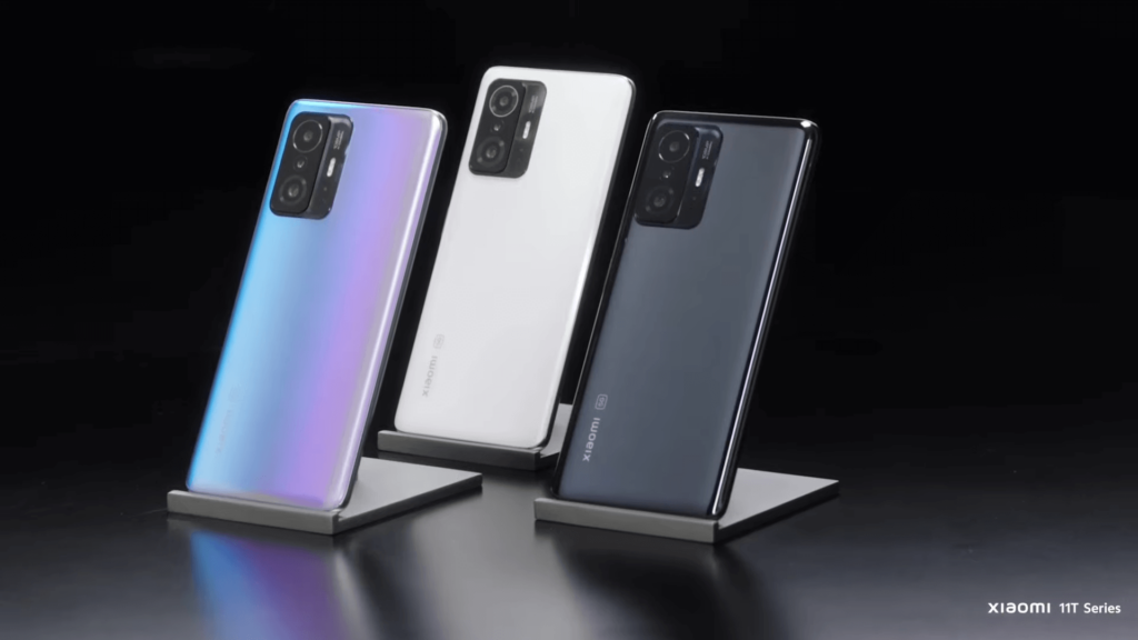 all 3 colours angled Xiaomi 11T Pro