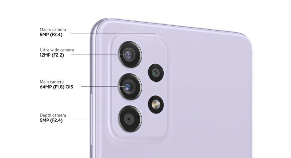 Galaxy A52s 5G rear camera