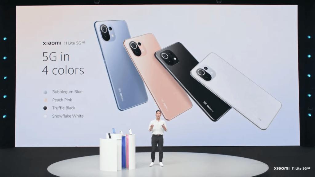 Xiaomi 11 Lite 5G NE colour choices