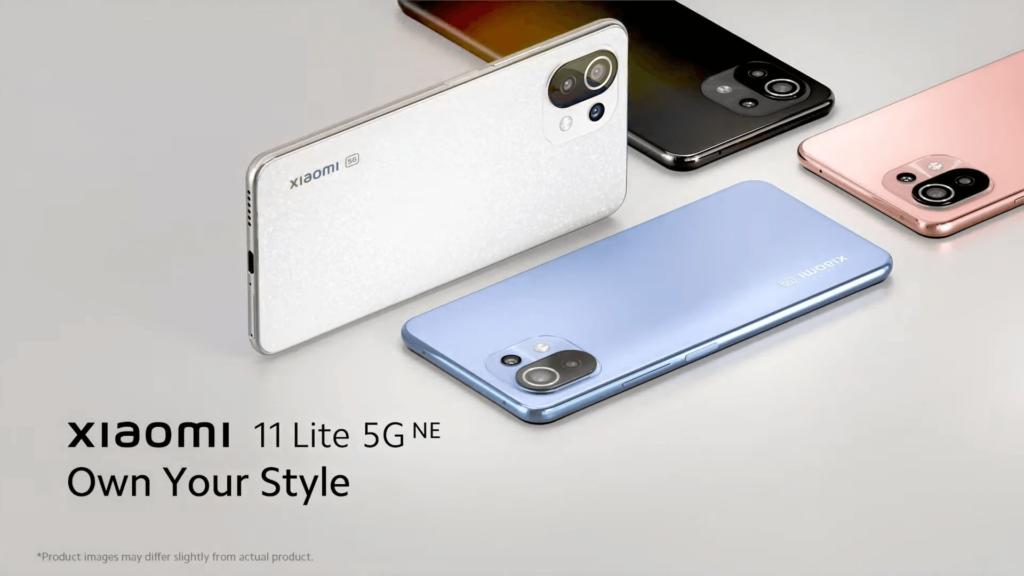 Xiaomi 11 Lite 5G NE colour choices 2
