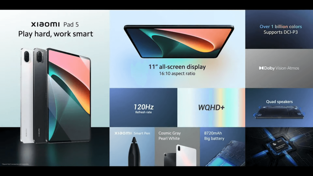 Xiaomi Pad 5 tablet specs